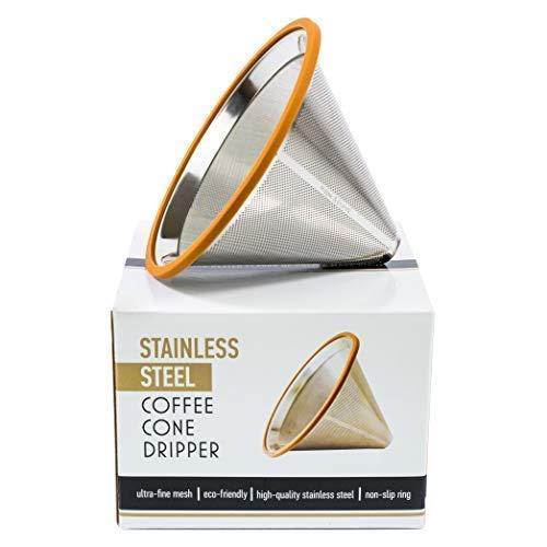 Многоразовый металлический фильтр для заваривания кофе в пуровере и кемексе