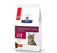 Hills (Хиллс) Prescription Diet i/d Digestive Care (заболевания ЖКТ, панкреатит) корм для кошек курицей, 1.5кг