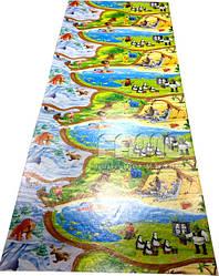 Детский игровой коврик для ползания ребенка «Happy Kinder» XXXL 3000х1200x8 мм