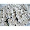 Бумажные цветочки оптом 144 шт. 1,5 - 2 см белого цвета
