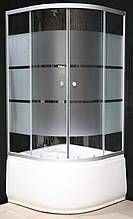 7125-7 (90х90см). Душевая кабина KO&PO с глубоким поддоном (13,5см), стекло с декором