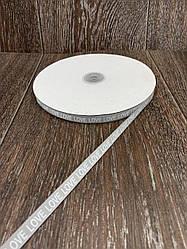 Лента респ с надписью LOVE серая 100 ярд, ширина 1 см