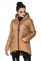 Женская удлиненная куртка прямого кроя