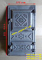 Дверка чугунная печная (270х480 мм) грубу, печи, барбекю, мангал, фото 1