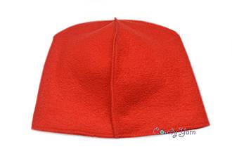 Флисовая подкладка для шапки 50см, Красный