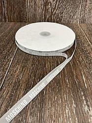 Лента респ с надписью MOSCHINO серая 100 ярд, ширина 1 см