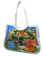 bfbce9f52345 Женская пляжная сумка 1342 white печать печать пляжные сумки, пляжные  корзинки недорого Одесса 7 км
