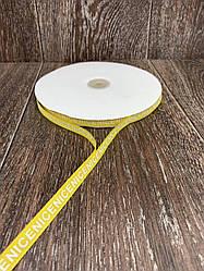 Лента респ с надписью NICE жёлтая 100 ярд, ширина 1 см