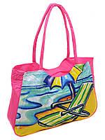 3603028b1afe Женская пляжная сумка 1328 pink печать печать пляжные сумки, пляжные  корзинки недорого Одесса 7 км