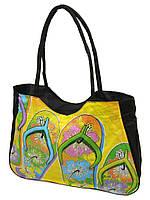 d8e7cf3c7fcd Женская пляжная сумка 1327 black печать печать пляжные сумки, пляжные  корзинки недорого Одесса 7 км