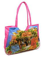 ba94bd567bf6 Женская пляжная сумка 1342 pink печать печать пляжные сумки, пляжные  корзинки недорого Одесса 7 км