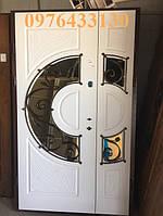 Двері вхідні металеві дуб білий