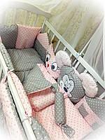 Набор детского постельного в кроватку ТМ Bonna Зверята