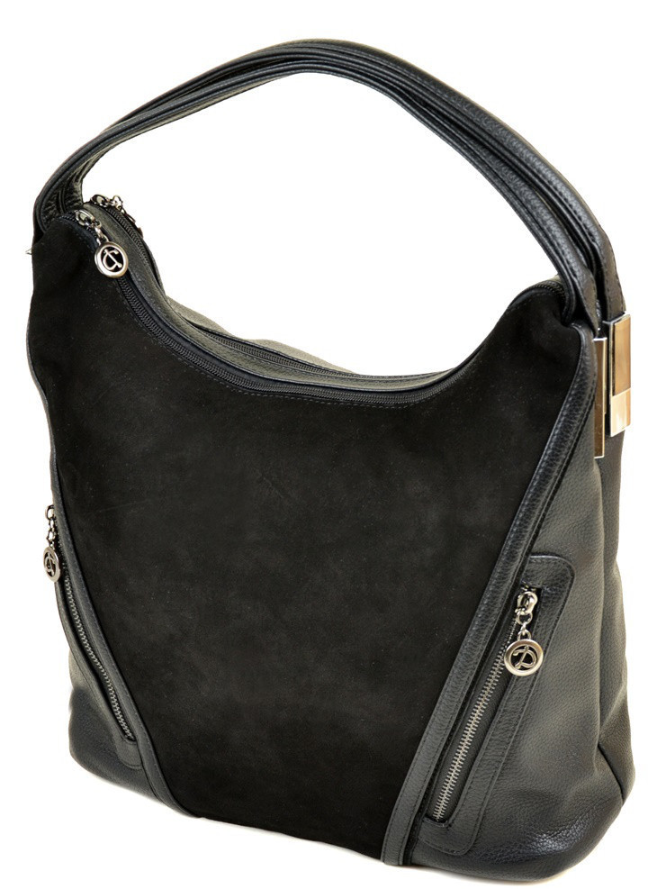 64994377100e Женская замшевая сумка ALEX RAI 09-4 А213 black купить женскую замшевую  сумку