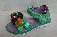Зеленые босоножки и сандалии на девочку, детская летняя обувь тм Tom.m р.21