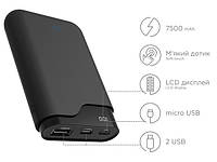 ERGO LI-U3 TYPE-C, 7500 mAh Black Портативная батарея
