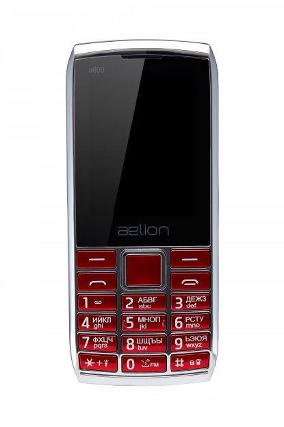 Кнопочный телефон на 2 сим карты с мощной батареей AELion A600 красный