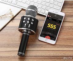 Караоке Микрофон WS 858 Портативный Bluetooth микрофон