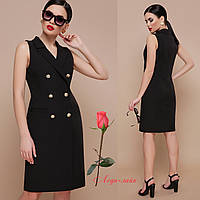 f2681d23b2b Платье-жилет с отложным воротником для офиса GL Жасмин Черный