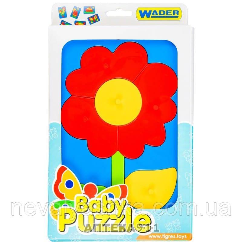 Пазл Клоун Цветочек Пазлы Пластик Вкладыши Развивающие Baby puzzles ТИГРЕС Wader 39340 007097