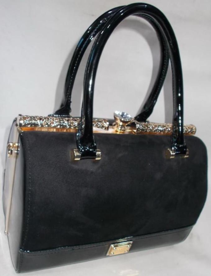 a2433d2f87c2 Женская лакированная сумка 601 Black купить женскую лакированную сумку