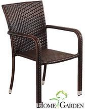 Сад.меблі з штучного ротангу. Стіл + 4 крісла, фото 2