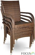 Сад.меблі з штучного ротангу. Стіл + 4 крісла, фото 3