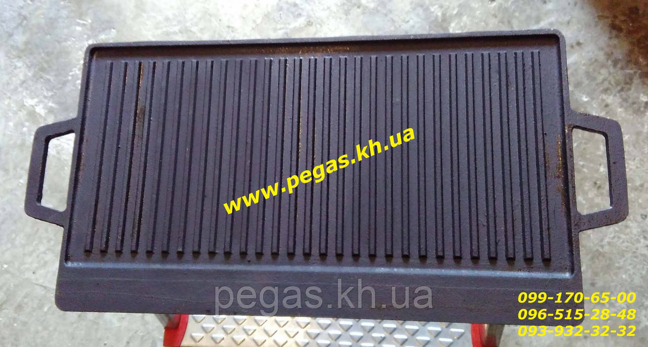 Противень гриль жаровня чугунный для барбекю 525х250 мм. мангал