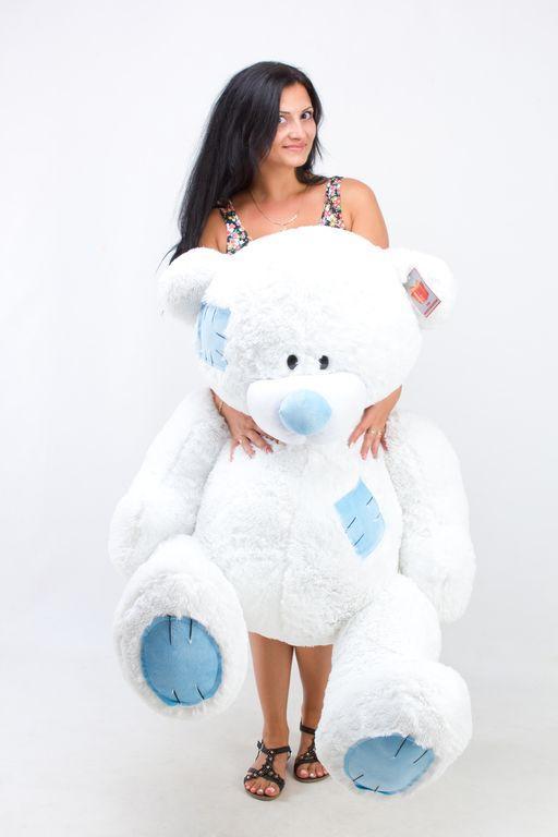 Большой плюшевый медведь Гриша  белый (150 см)
