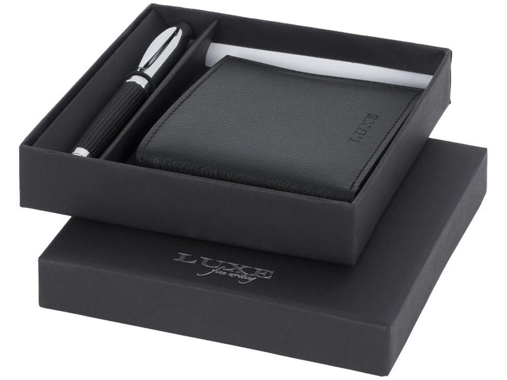 Подарочный набор LUXE: ручка шариковая, портмоне