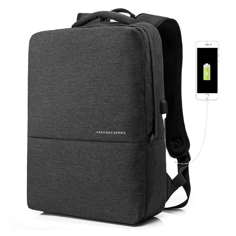Легкий міський рюкзак для ноутбука Kaka 2237, з USB портом, 20л