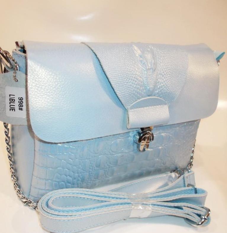 ab8bdee995c0 Женский кожаная сумка клатч 998 light blue женские клатчи из натуральной  кожи купить недорого