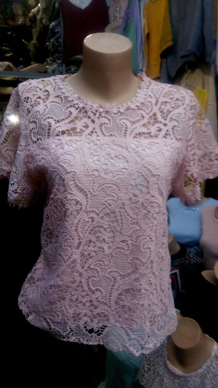 Женская гипюровая блуза