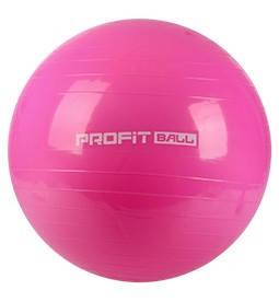 Мяч для фитнеса (фитбол) 65 см Profi MS 0382 розовый