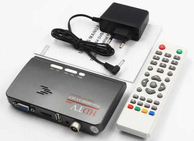 Внешний T2 ТВ тюнер к монитору VGA автономный tv tuner т2 vga вга