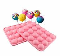 Силиконовые полусферы для кейкпопсов маленькие ( маленьких пирожных на палочке)