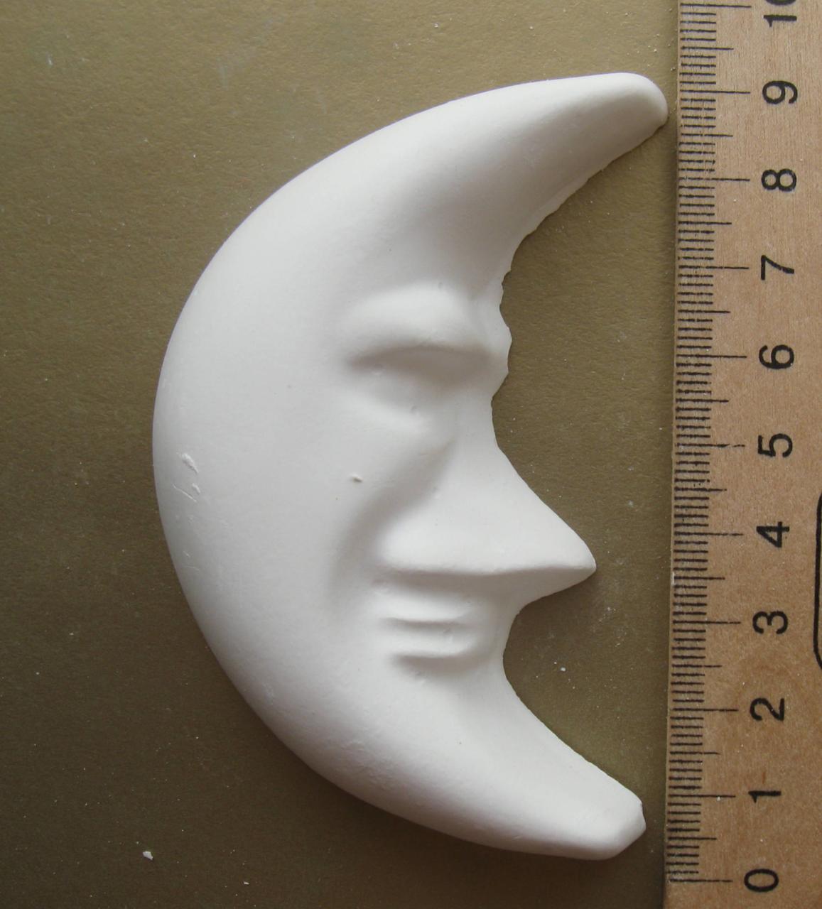 Гипсовая фигурка заготовка для раскрашивания. Гіпсова фігурка для розмальовування Месяц Луна