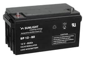 Акумуляторна батарея SunLight SPb 12-80, фото 2