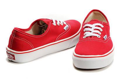 Кеды Vans Classic Canvas красные