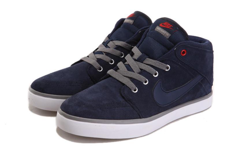 Кеды Nike Suketo Mid Leather синие - «Riccardo» - мультибрендовый интернет-магазин одежды от украинских производителей оптом и в розницу в Харькове