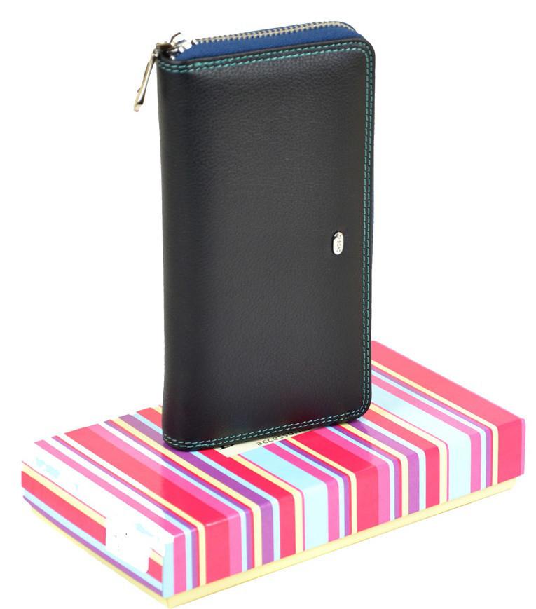 0892e9232f4f Женский кожаный кошелек DR. BOND WRS-2 blue купить женский кожаный кошелек