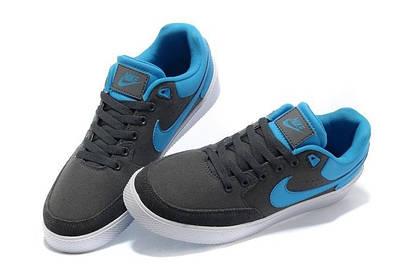 Кеды Nike Street Gato AC тканевые серо-синие