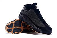 Кроссовки мужские Nike Air Jordan в стиле Найк Аир Джордан, замша, текстиль, Черно-белые