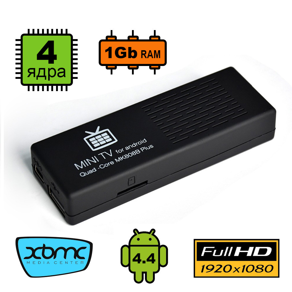 Smart TV приставка MK808B Plus
