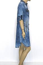 Джинсове плаття Турція з камінням і стразами, фото 3