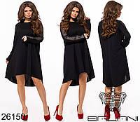 Шикарное платье трапеция с удлиненной спинкой размеры S-XL, фото 1