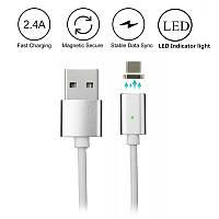 Магнитный Шнур Data кабель для зарядки USB - micro USB magnetic cable  DM-M15, фото 1