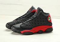 Чоловічі кросівки Nike Air Jordan 13 Black Red в стилі найк аїр джордани
