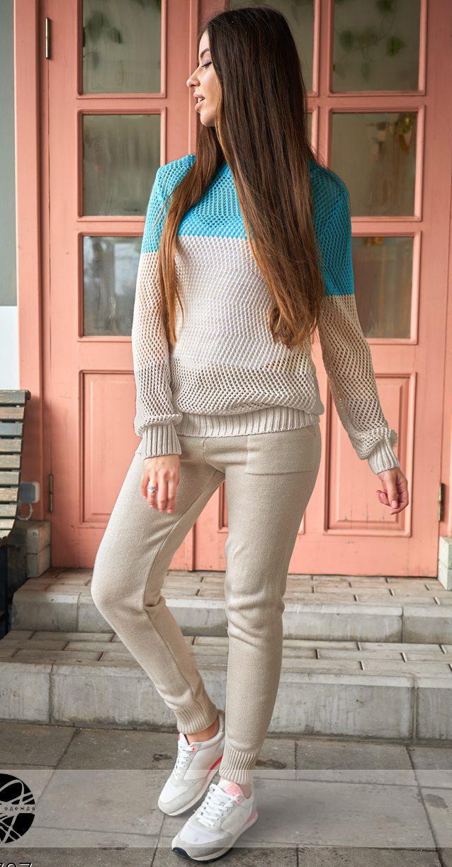 Женский вязаный костюм бежевого цвета. Модель 20707 - Irse в Одессе 7a564ec7490c2