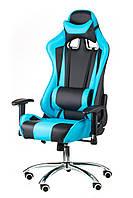 Геймерское кресло ExtremeRace black/bluе, TM Special4You